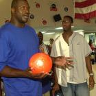 Athletes at the Bowling Alley