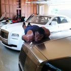 ... And on his collection of Rolls Royces.