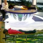 """Former Wimbledon girls' champion Laura Robson engaged  in a planking battle  with compatriot Anne Keothavong. Robson went two up in the """"plank-off"""" with these shots."""