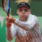 Mattek-Sands wore an unusually patterned long-sleeved shirt for her third-round loss to Jelena Jankovic at the 2011 French Open.