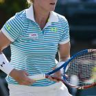 Mattek, shown here at the Family Circle Cup in Charleston, S.C.,  began wearing her own line of eye black during the 2011 season.