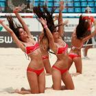 This week's Big Existential Question: Where would pro volleyball be without beach honeys and aerodynamically-designed swimwear?