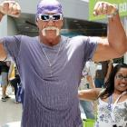 """Indeed, the Hulkster remains a role model for anyone in the vicinity of the Los Angeles Convention Center where he'd gone to promote the """"Hulk Hogan's Main Event"""" video game at the Electronic Entertainment Expo."""
