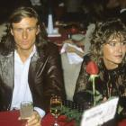 Borg sitting with wife Mariana during a dinner at Caesars Palace in Las Vegas on Apr. 22, 1982.
