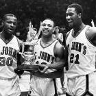 Jackson led St. John's to a 70-69 win against Syracuse in the Big East Conference Championship in 1986. The Redmen would take a No. 1 seed in the NCAA tournament before falling in the second round.
