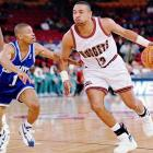 Two fan-favorites squared off when Jackson's Nuggets faced Mugsey Bogues' Charlotte Hornets in 1997. Jackson was traded to the Nuggets in a deal that included Jalen Rose, but only stayed in Denver for 52 games.