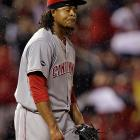 This Opening Day starter found himself sent to the minors after walking nearly 16 percent of the batters he faced, good for a 6.35 ERA and less than five innings a start. Command has always been the worry with Volquez, who even at his peak would walk about one in 10 men, but the complete inability to get ahead of hitters or keep them off first base blew up on him this year. He'll be back, and his raw stuff remains strong; until he shows a minimum level of control, though, he's a question mark.