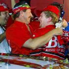 Junior became the first NASCAR Cup rookie to win the annual All-Star Race at Charlotte Motor Speedway, passing defending series champion Dale Jarrett with two laps to go. His father joined him in Victory Lane for a raucous celebration. In 2009, fans voted Junior's All-Star victory as one of the 12 greatest moments in the 50-year history of Charlotte Motor Speedway.