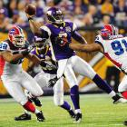 In the three games Jackson stepped in for an injured Brett Favre last season he was less than impressive. Three touchdowns and four interceptions did the Vikings no favors, and neither did the turf toe that ended his season.