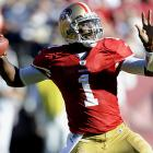 The former Heisman Trophy winner fought for time with Alex Smith in San Francisco and averaged 196 yards per game in six appearances.