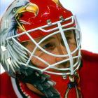 """Undrafted out of the University of North Dakota, where he'd earned a scholarship at the late age of 21, the fiery goaltender known as """"The Eagle"""" won the 1991 Calder Trophy with Chicago. Frequently clashing with equally headstrong Blackhawks coach Mike Keenan, Belfour went on to become a two-time Vezina Trophy-winner who posted 484 wins -- third all-time -- including 76 shutouts during his 17-year career with Chicago, San Jose, Dallas, Toronto and Florida."""