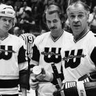 A versatile defenseman who could also play forward, the son of the great Gordie Howe scored 1,246 points over 22 seasons in the World Hockey Association and NHL. (That's Mark, left, with older brother Marty and their dad as teammates on the New England Whalers in 1977.) After Gordie came out of retirement in 1973 to join his sons on the WHA's Houston Aeros, the three Howes played on the same line. Mark, who scored 38 goals that season, was named the WHA's rookie of the year.