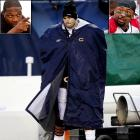 """When Bears quarterback Jay Cutler removed himself from the Bears/Packers NFC Championship game, he faced an intense twitter backlash from his NFL counterparts. Jaguars running back Jones-Drew (left inset) tweeted,  """"Hey I think the urban meyer rule is effect right now...When the going gets tough....QUIT...""""   Cardinals defensive lineman Dockett (right inset) wrote,  """"If I'm on Chicago team jay cutler has to wait till me and the team shower get dressed and leave before he comes in the locker room. #FACT."""""""
