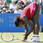 Serena rallied for a 1-6, 6-3, 6-4 victory over Tsvetana Pironkova in her first match in 11-and-a-half months.