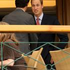 Prince William attends Monday's session at Wimbledon.
