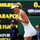 Maria Sharapova reacts during Thursday's semifinal match.