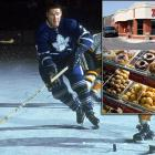 """Labeled by Gordie Howe as """"hockey's strongest man,"""" Horton spent 22 seasons in the NHL as a defenseman for the Toronto Maple Leafs, New York Rangers, Pittsburgh Penguins and Buffalo Sabres. While playing for the Leafs in 1964, he opened the Tim Horton Donut Shop in Ontario. By 1967 it was a million dollar brand, thanks to its combination of cheap donuts and Horton's immense popularity in Canada. The seven-time All-Star was killed in a car crash in 1974, but his business grew ever more successful under the stewardship of his partner, Ron Joyce. Today there are over 2,700 Tim Hortons outlets across Canada and  in the US. Horton was posthumously inducted into the Hockey Hall of Fame in 1977."""