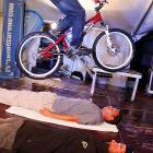 The world champ demonstrates the Next Big Thing: a mash-up of mountain biking and reverse planking.