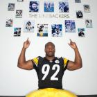 Harrison points to some of the great Steeler linebackers in the franchise's history. He'll someday be on that wall at the Steelers' practice facility having already amassed 49 career sacks.