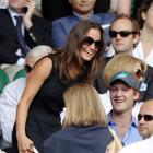 Pippa Middleton takes her seat to watch Friday's men's semifinal match between Serbia's Novak Djokovic and France's Jo-Wilfried Tsonga.