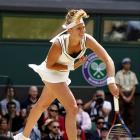 Petra Kvitova serves to Maria Sharapova.