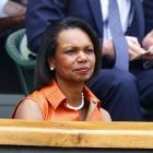 Condoleezza Rice watches the Saturday's women's final.