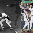 The Mets capped a miracle Game 6 rally when Bill Buckner's infamous error allowed the winning run to score in the 10th inning, then overcame a three-run deficit to win Game 7 two nights later.