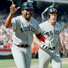 With the Red Sox down to their final strike in the ninth inning of Game 5 of the ALCS against the Angels, Dave Henderson hit a go-ahead two-run homer off Donnie Moore. The Angels tied the score in the bottom of the ninth, but the Red Sox won in extra innings and completed their comeback by winning Games 6 and 7 handily in Fenway Park.