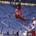 Jackie Joyner set the world record in the heptathlon at the Goodwill Games in July and then broke that mark a month later at the U.S. Olympic Festival while becoming the first woman to exceed 7,000 points in the seven-event endurance test.