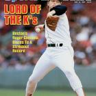 Boston's Roger Clemens set a major league record when he struck out 20 in a 3-1 victory against the Mariners on April 29, jump-starting his MVP and Cy Young season of 24-4 with a 2.48 ERA.
