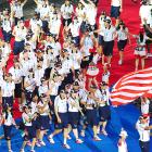 The World University Games are an international multi-sport event held ever other year in a different city for athletes enrolled in or just graduated from a university. Here, members of the U.S. teams enter the opening ceremony of the 2011 WUGs, held in Shenzhen, a city of south China's Guangdong Province.