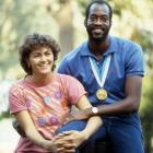 Moses is best known for winning gold medals in the 400-meter hurdles at the 1976 and 1984 Olympics, but he also won the heart of Myrella Bordt, a West German costume designer. The couple were married in 1982 but divorced nine years later.