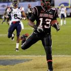 Hillman was the conference's leading rusher last season with 1,532 yards, breaking Marshall Faulk's school record of 1,429 set in 1991. He was also first among all FBS freshmen with 117.8 yards per game.