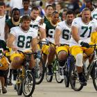 The lockout over, the defending Super Bowl champions got down to the hard work of training for next year's Tour de France.