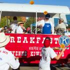 Rustlin' up some pancakes at the world's largest outdoor rodeo.