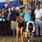 The brassy 61-year-old tooted her own horn ( CLICK HERE  to watch her in action with the justly famous International Silverstring Submarine Band back in the day) before attempting a 103-mile swim from Havana to Florida without the benefit of a shark cage.