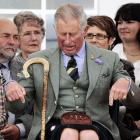 Now, that's a pair of gams, eh? Charles proudly showed off his princely pegs at the Mey Highland Games northern Scotland.