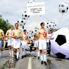 """In Hamburg, Germany soccer enthusiasts delivered a rousing rendition of the old AC/DC classic which goes as such, """"He's got big balls and she's got big balls, but we've got the biggest balls of them all!"""""""