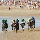 """When last seen, the field in the Belmont Stakes was rounding southern Spain and turning for home.   Fun Fact to Know & Tell: """"Sanlucar horse racing dates back to 1845 and is one of the oldest in Europe. It currently takes place near the mouth of the Rio Guadalquivir several times during the month of August."""""""