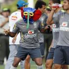 During an August 3rd training session in Barranquilla, Colombia, the Brazilian defender was spotted testing out some cheap diversionary tactics before his team's U-20 World Cup group E game vs. Panama. They obviously worked as Brazil won 4-0.
