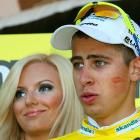 The winner of the fifth stage of the Tour de Pologne would be wise not to go home to the Mrs. with that thing on his cheek...