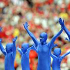 """Pregame performers in Manchester asked that timeless musical question first posed by the Bonzo Dog Band, """"Can blue men sing the whites?""""  CLICK HERE , dust off your pipes and sing along!"""