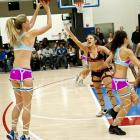 With the unsurprising success of the Lingerie Football League, it was only natural we'd get a four-team hoops variation. Here, the lovely Shannon Watkins of the LA Glam launches a trey against the LA Divas. Next up: a lingerie hockey league, which is what some say the NHL will become if it bans fighting.