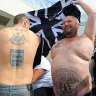 And now a little (well, not really) something for all you ladies out there: a pair of stouthearted Newcastle supporters showing off their buff bods before a match against Sunderland on Aug. 20.