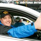 Actor Kevin James gives his stamp of approval prior to the start of the Pepsi 400 at Daytona on July 7, 2007. James served as grand marshal for the race.