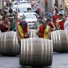 Roll out the barrel, indeed. Competitors in the annual race -- a more genteel twist on the classic jog 'n grog -- push 80-kilo casks of vino through Montepulciano, a town in Tuscany renowned for its grape beverages. Here, the Cabernet Sauvignon leads the Chateau Black & Decker and the Thunderbird by a (red) nose.