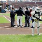 With a credible if unconfirmed terror threat in the news, security was enhanced at AT&T Park in San Francisco where the hometown Giants took on the brave and wooly Diamondbacks of Arizona.