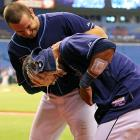 In a disturbing scene out of the classic sci-fi horror film  Alien  ( CLICK HERE  to watch), the Tampa Bay Rays third baseman had to fight to subdue his team's leftfielder, who was subsequently revealed to be a cyborg.