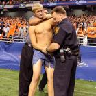 An overzealous partisan at UTSA's inaugural football game ran afoul of increased national security measures. Meanwhile, the Roadrunners squeaked by Northeastern State, 31-3, in front of 56,000 amused fans.