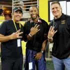 This noble trio discovered they were each missing fingers after shaking hands with local politicians on the sidelines at a game between Arizona State and Missouri on Sept. 9.